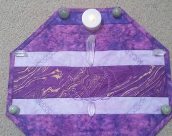 Chakra third eye meditation mat/ Hexagon prayer mat