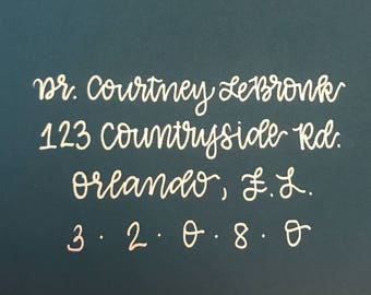 Custom hand written lettering for weddings & special occasions