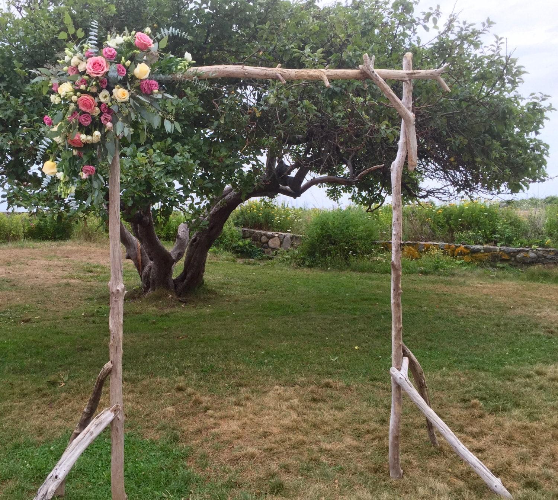 Wedding Altar Pieces: Self Standing Driftwood Wedding Arch Maine Driftwood Wedding