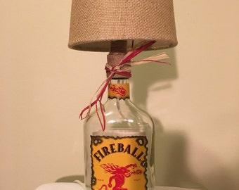 Fireball Whiskey Lamp