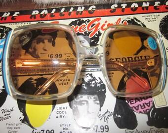 Nina Ricci France Oversized Sunglasses Readers Navy And Blue Frames 1970's