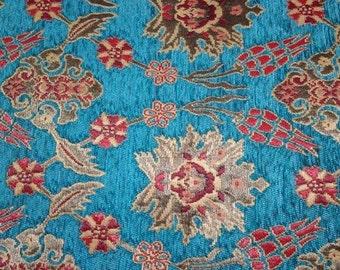 Ethnic Tribal Style Chenille Upholstery Fabric, Aztec Navajo Fabric, Geometric Design Kilim Fabric, 3 Meter / Yard