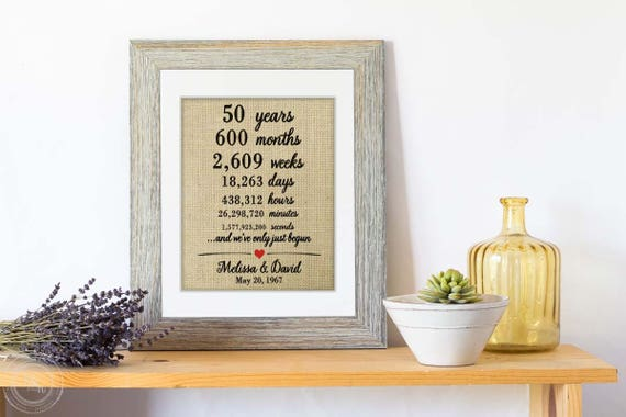 Golden Wedding Gift Ideas For Parents: Personalized 50th Anniversary Gifts For Parents Unique 50