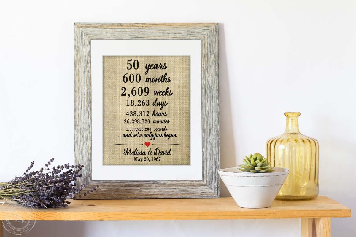 Personalised 50th Wedding Anniversary Gifts: Personalized 50th Anniversary Gifts For Parents Unique 50
