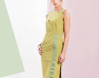 Greta Pencil Dress Green
