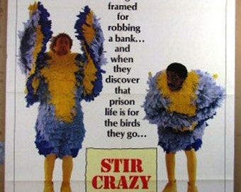 "Stir Crazy     Movie Poster   ""Stir Crazy""   Original 1980 Movie Poster - Gene Wilder and Richard Pryor"