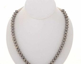 Navajo Desert Pearls Necklace Aztec Pattern 8mm Beads