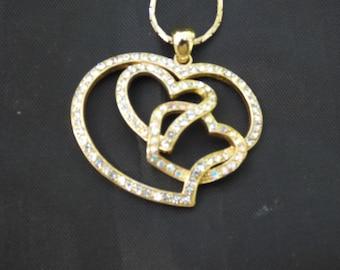 Crystal Heart Pendant on Chain