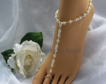 Pearl Barefoot Sandal - Bridal Foot Jewelry