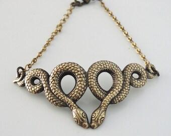 Vintage Bracelet -  Snake Bracelet - Egyptian Jewelry -  Snake Jewelry - Brass Bracelet - handmade jewelry