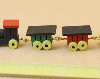 Dolls House Miniature Wooden Train