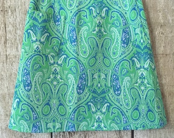 Vintage 60's paisley high waisted mini skirt