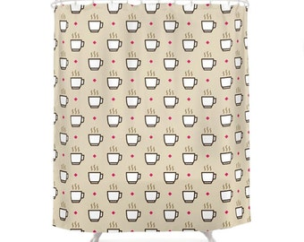 Coffee Shower Curtain - Icon Prints: Drinks Series