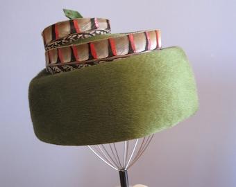 Jan Leslie Custom Vintage Design Feather Hat Helios