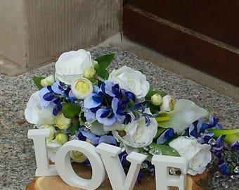 Bridal bouquet Evi Wisteria and white roses