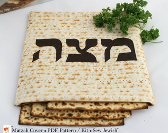 Passover Seder Matzah Cover Sewing Pattern - Pesach Matzah Cover Sewing Pattern - Jewish Holiday Sewing Pattern - Digital PDF Sewing Pattern