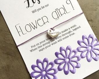 Flower girl bracelet, WILL YOU BE my flower gift, flower girl proposal gift, Flower girl bracelet, Flower girl jewelry, Bridal party, B20