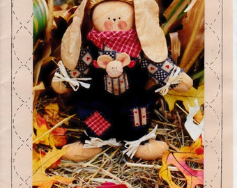 Country Bunny Pattern Craft Show Idea New Sewing Homespun at Heart Design 12 Inches Tall
