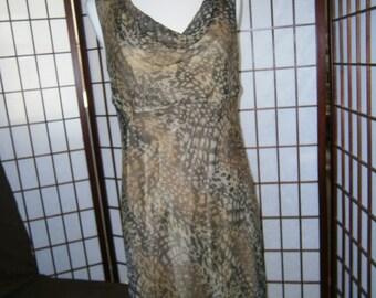 Women's Sleeveless Dress - Sheer Spotted Print