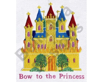 Palace - Machine Embroidery Design, Castle, Princess, Bow to the Princess