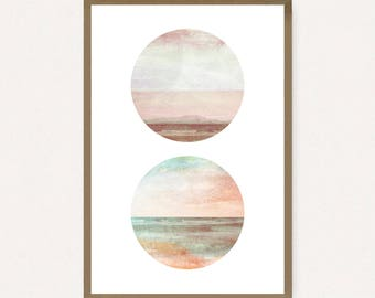 24x36 Poster Size - Abstract Ocean - Printable Art