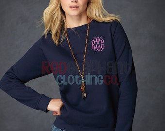 Crewneck Sweatshirt, Monogrammed Sweatshirt, Monogrammed Pullover Sweatshirt, Monogram long sleeve, monogram shirt,