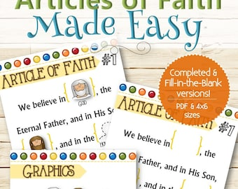 Articles of Faith Made Easy - INSTANT DOWNLOAD