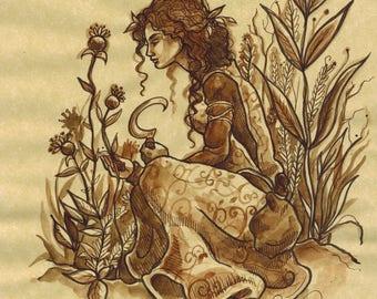 The Herbalist (Original ink)
