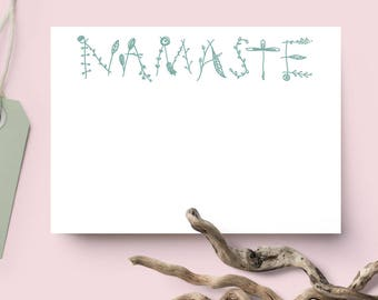 Namaste Notecards - Yoga Stationary Set // Yoga Gifts // Gifts for Her // Yoga Cards // Yoga Notecards // Namaste Stationary // Blank Cards