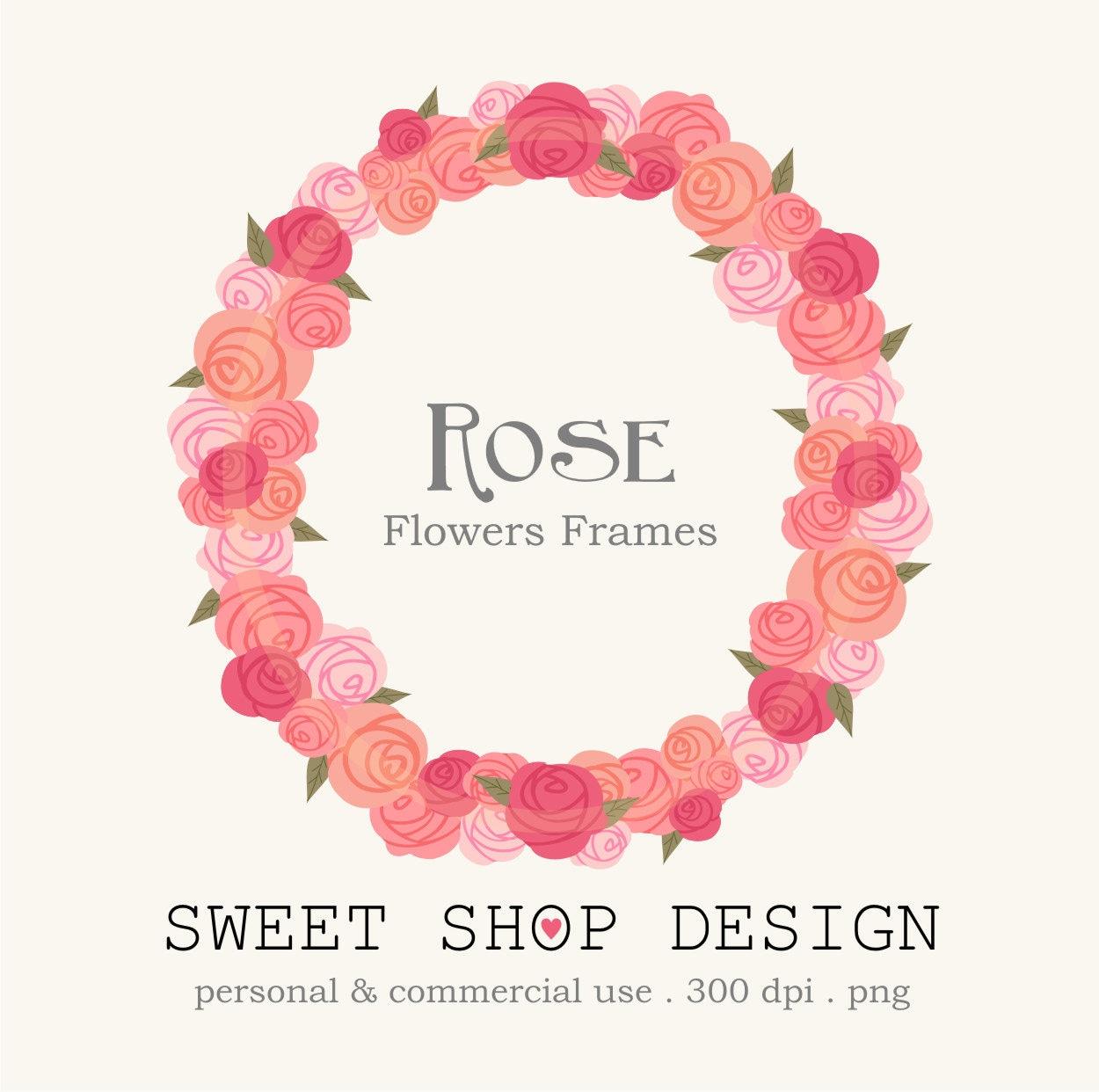 Rose Clip Art Flower Border Frames Royalty Free