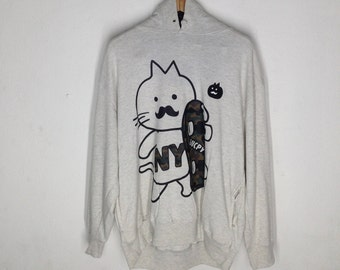 Vintage LUCPY Grey Hoodie Sweater Size 3L