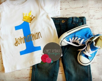 royal prince birthday outfit, First Birthday Outfit, Blue 1st Birthday Outfit, Cake Smash Outfit, Royal Blue and Gold, 1st Birthday Prince