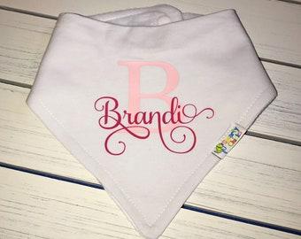 Personalized Baby Bib, Organic Cotton