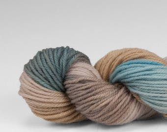 Mini skein, handpainted yarn, Merino and Nylon, Fingering/Sock, Splash, Rhyolite Robin's Egg