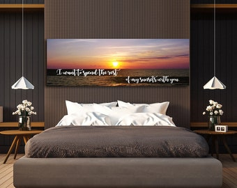 I Want to Spend The Rest Of My Sunsets With You Wall Art Canvas, Above The Bed, Wedding Gift, Sunset Wall Art, Couples, Bedroom Wall Decor