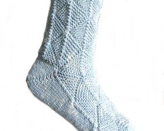 Fairytale socks Light Blue, size EU 42 - 43/UK 10/US 12