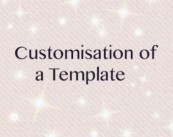 Customisation of template add on