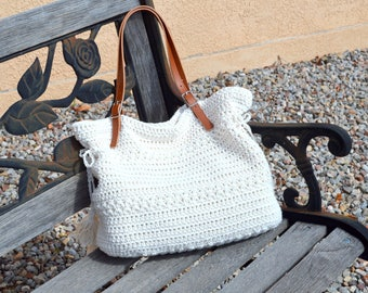 Crochet Bohemian Style Handbag, Crochet Boho Tote Bag, Shopper Bag, Beach Bag, Gift Idea