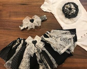 Black spring fabric tutu