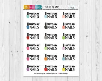 Painted My Nails | Nail Polish | Planner Stickers | 17336-04