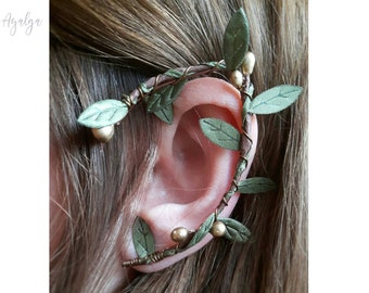 Elven forest earcuff leaves- statement jewelry- statement jewelry