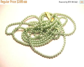 Clearance Sale 360 Very Light Green Pearls - 3mm Glass Pearls - Vintage 3 mm Pearl Bead Lot - Japan Bead Lot