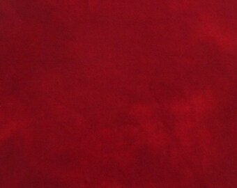 Hand dyed wool fabric - deep red wool - rug hooking - applique and crafts - primitive crafting - quilting - Primitive Christmas red - 049