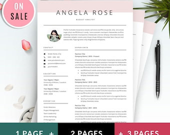 Resume Template - Professional CV Template - for Word (US Letter and A4) 1 & 2 Page CV Template