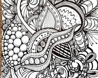 Doodle Black white