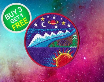 Adventure Patches Space Patches Iron On Patch Embroidered Patch Sew On Patch Patches For Backpacks