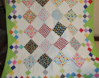 Quilts, Girls quilt, Boys quilt, Kids bedding, Handmade Quilts, Colorful Quilt, Baby Gift Idea