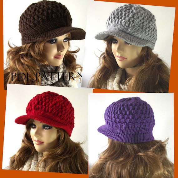 Cable Knit Newsboy Hat Pattern Maker