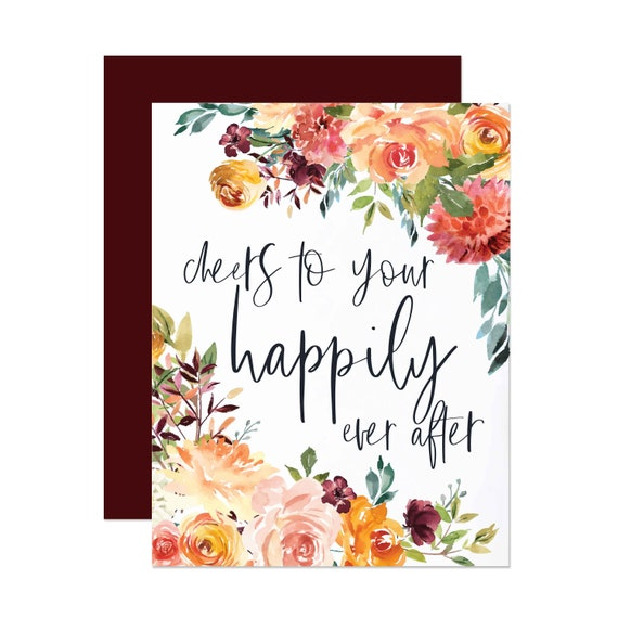 Summer Floral Bridal Shower Card - Happily Ever After