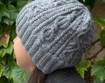 Tundra Twist Hat Knitting Pattern - PDF